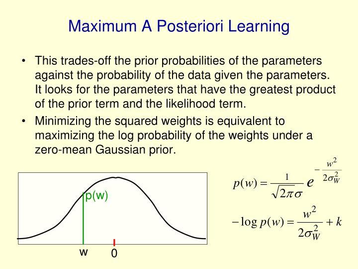 Maximum A Posteriori Learning