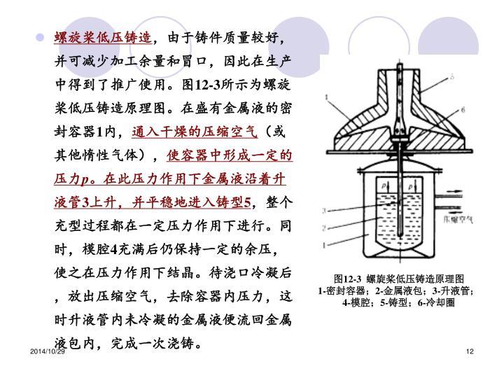 螺旋桨低压铸造