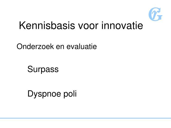 Kennisbasis voor innovatie