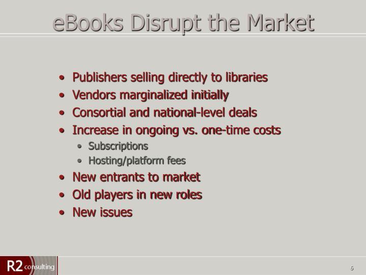 eBooks Disrupt the Market