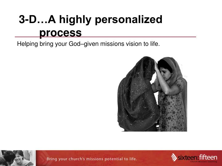 3-D…A highly personalized process