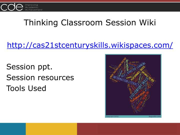 Thinking Classroom Session Wiki
