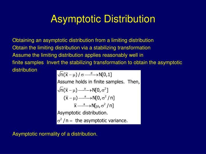 Asymptotic Distribution