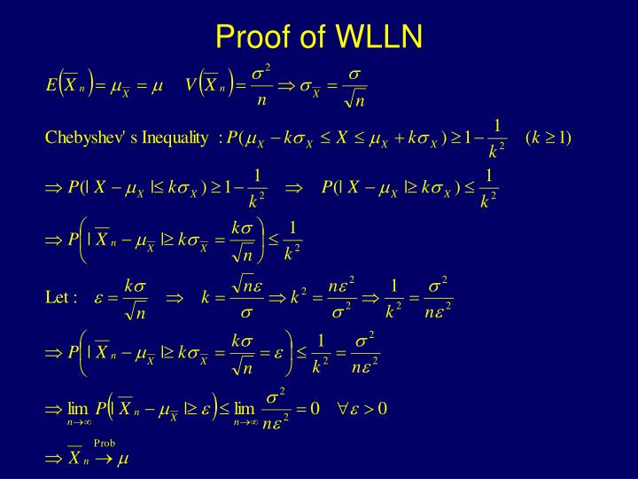 Proof of WLLN