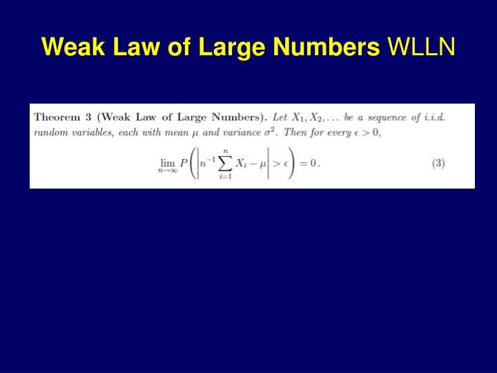 Weak Law of Large Numbers