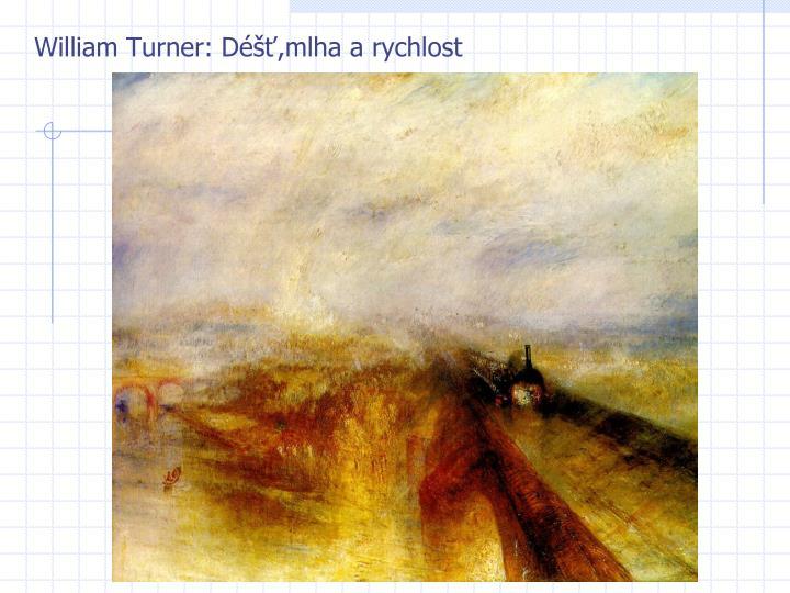 William Turner: Déšť,mlha a rychlost