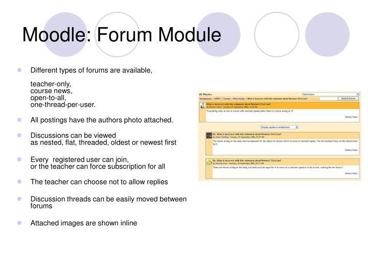 Moodle: Forum Module