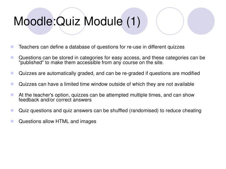 Moodle:Quiz Module (1)
