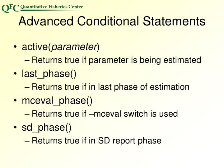 Advanced Conditional Statements
