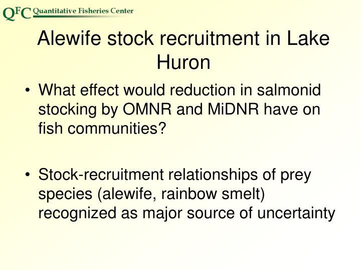 Alewife stock recruitment in Lake Huron