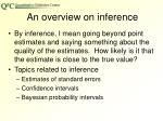 an overview on inference