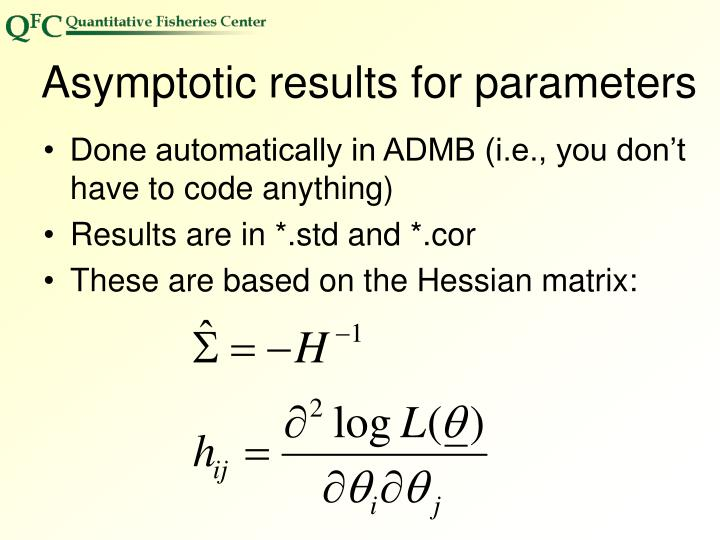 Asymptotic results for parameters