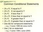 common conditional statements