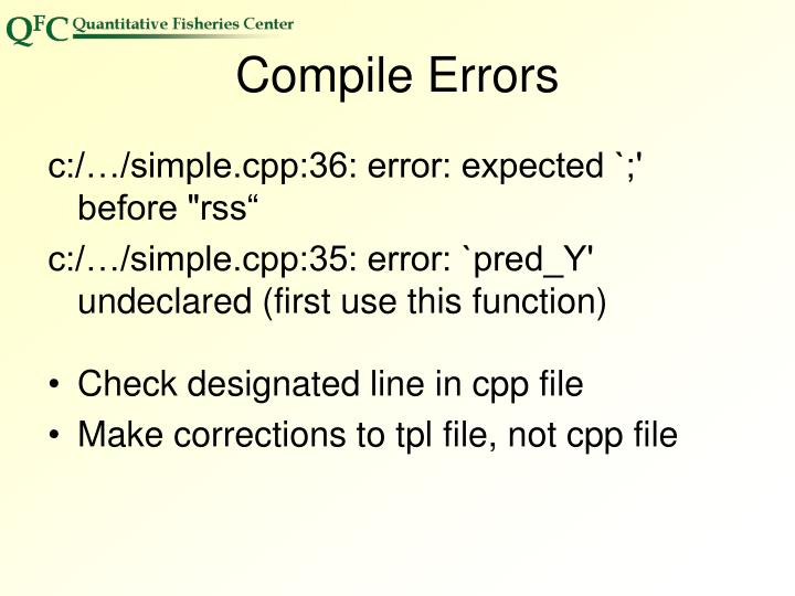 Compile Errors