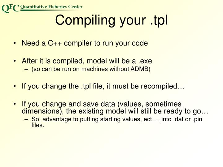 Compiling your .tpl