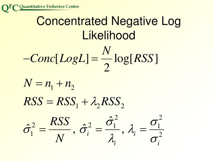 Concentrated Negative Log Likelihood
