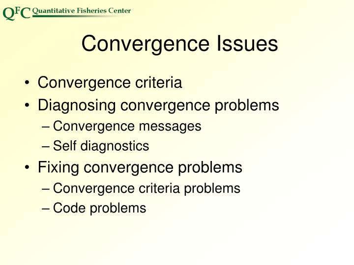 Convergence Issues