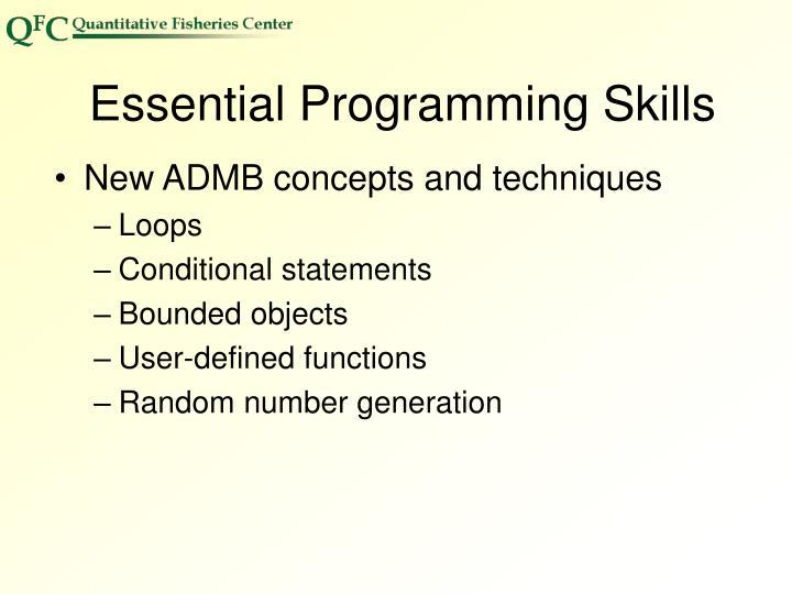 Essential Programming Skills