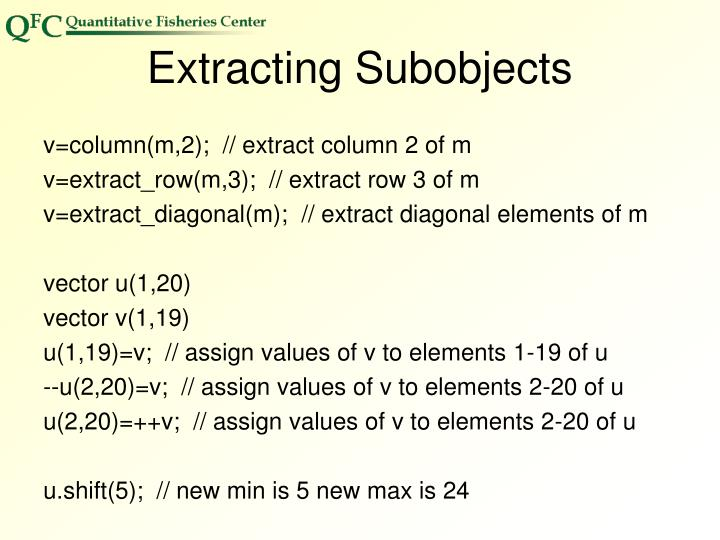 Extracting Subobjects