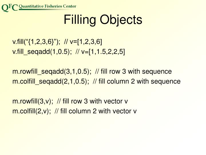 Filling Objects