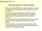 gaining access to chain values