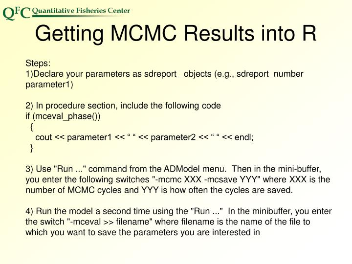 Getting MCMC Results into R