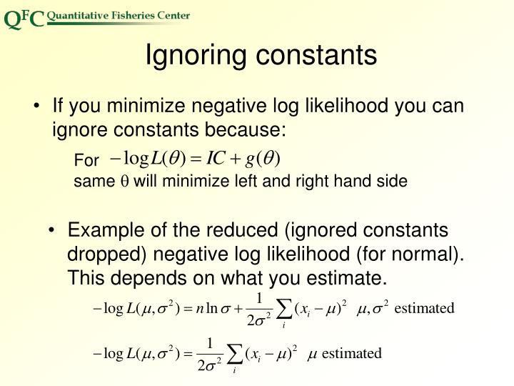 Ignoring constants