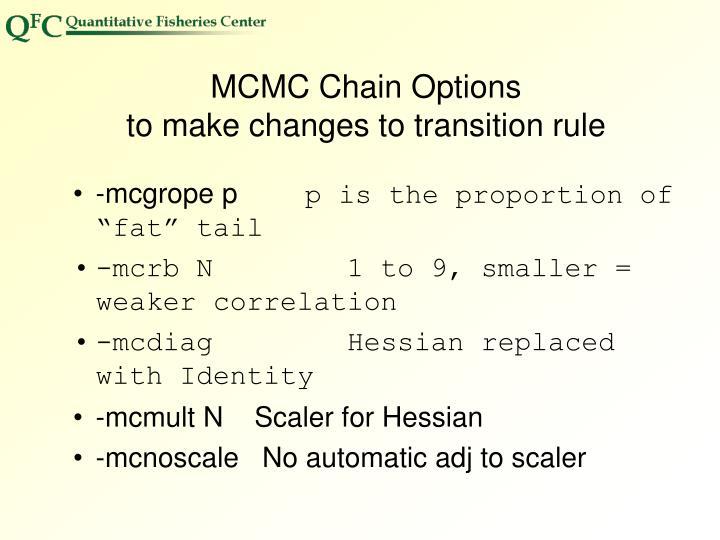 MCMC Chain Options