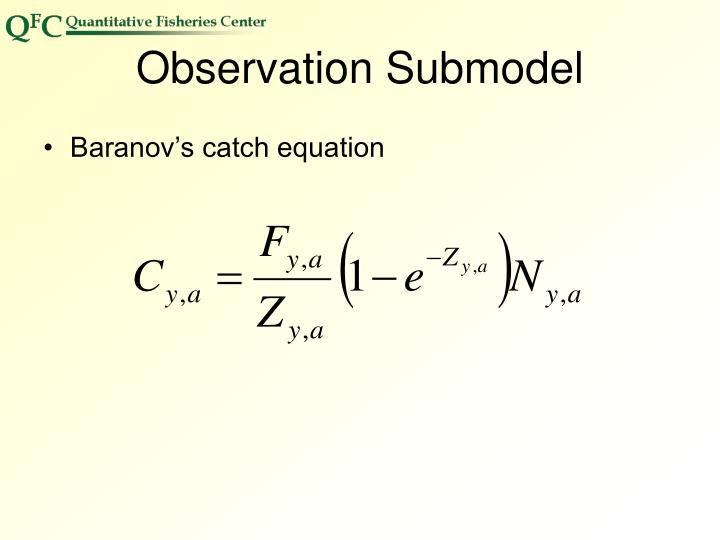 Observation Submodel