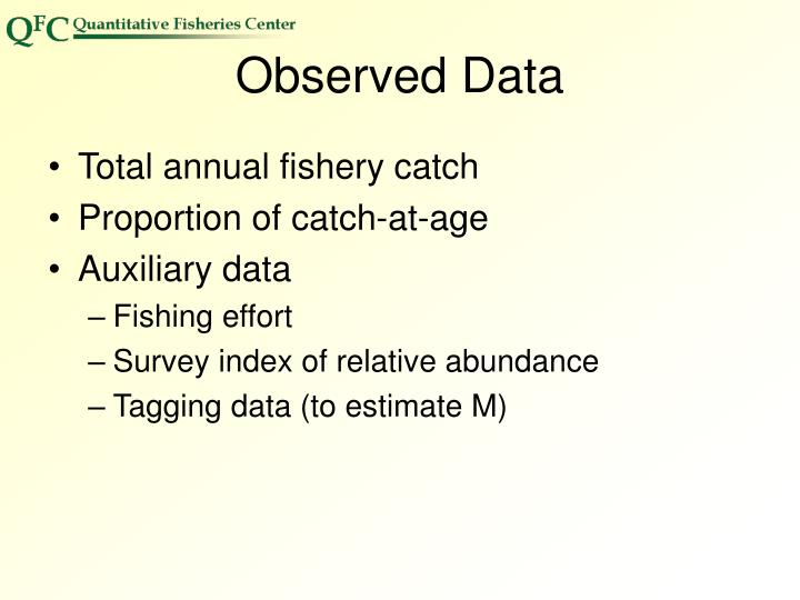 Observed Data