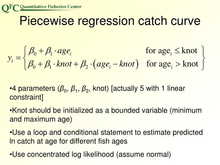 Piecewise regression catch curve