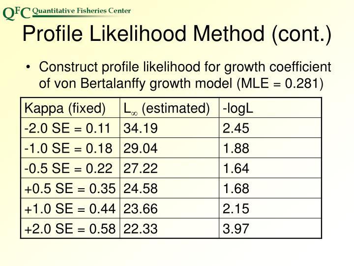 Profile Likelihood Method (cont.)