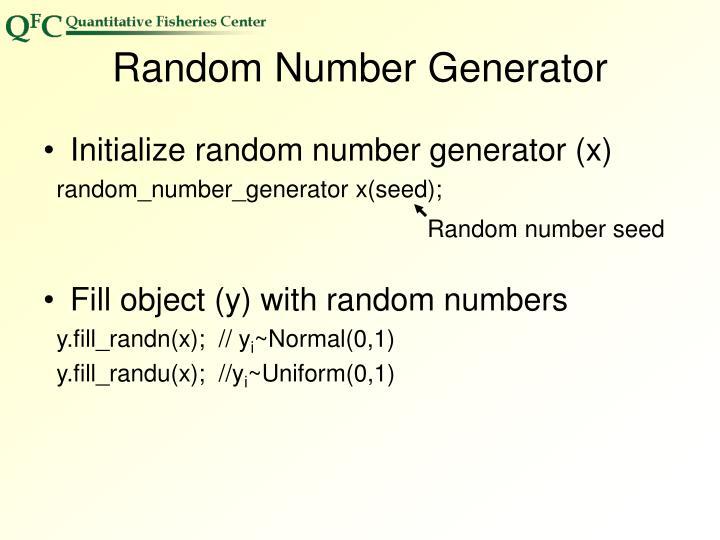 Random number seed