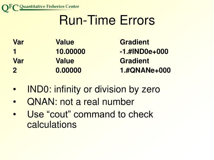 Run-Time Errors