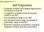self diagnostics