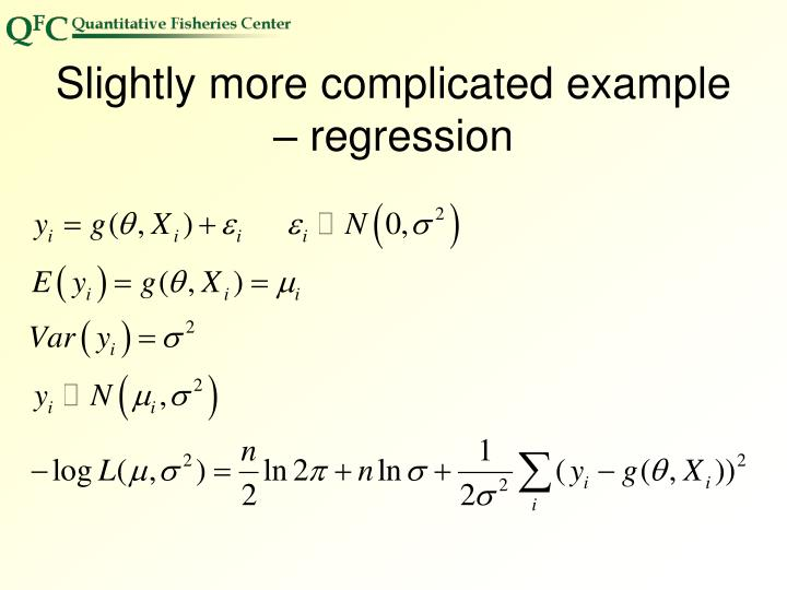 Slightly more complicated example – regression