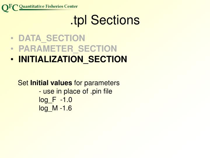 .tpl Sections