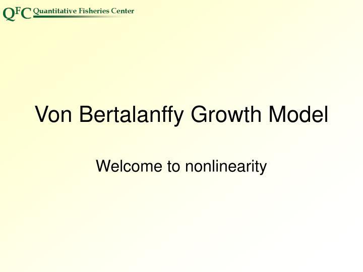 Von Bertalanffy Growth Model