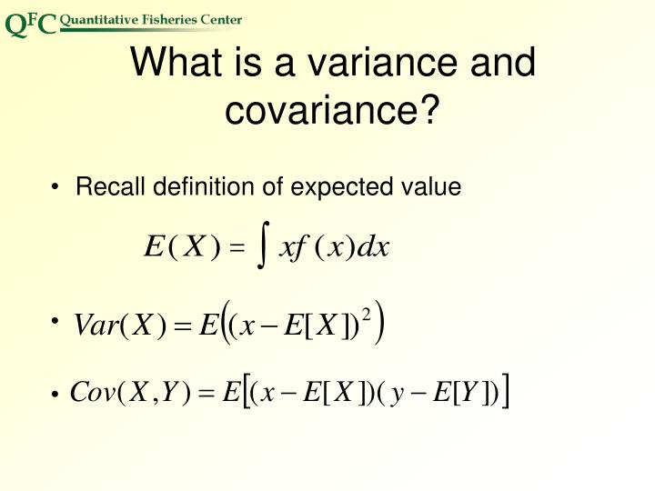 What is a variance and covariance?