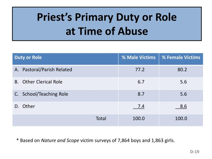Priest's Primary Duty or Role