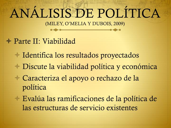 ANÁLISIS DE POLÍTICA