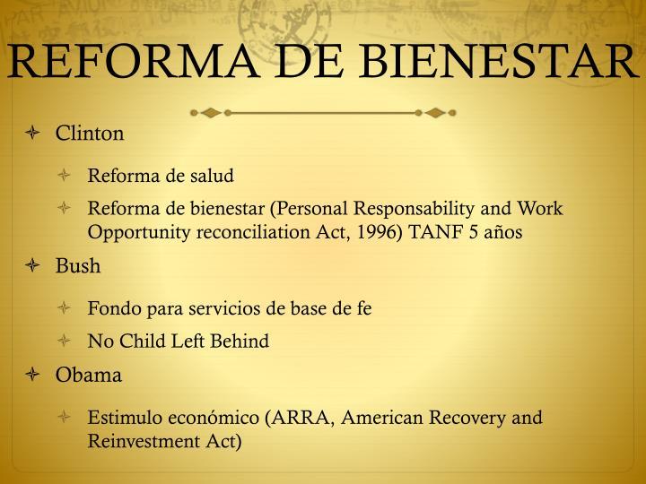 REFORMA DE BIENESTAR
