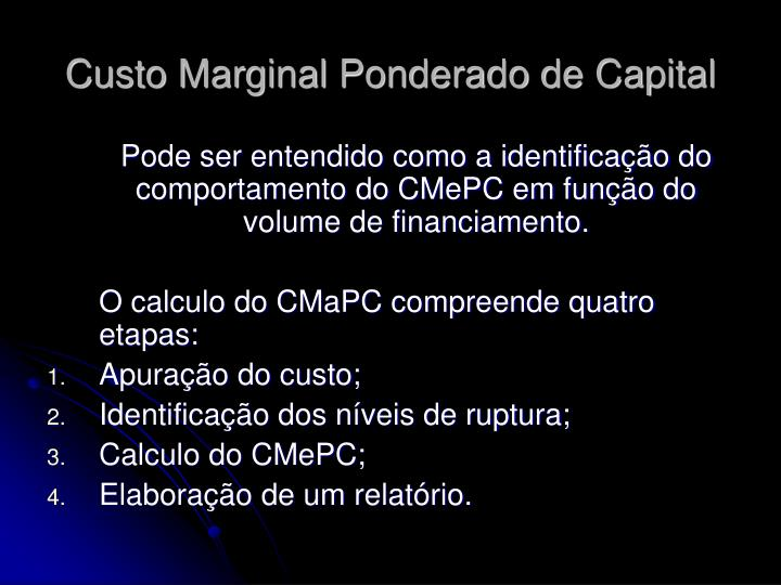 Custo marginal ponderado de capital