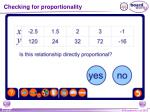 checking for proportionality