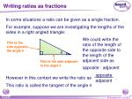 writing ratios as fractions