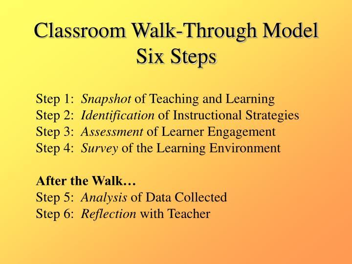 Classroom Walk-Through Model