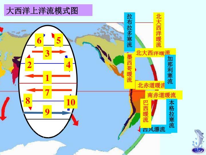 大西洋上洋流模式图