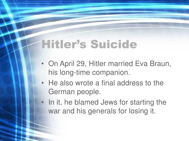 Hitlers Suicide