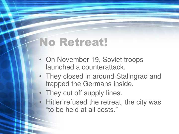 No Retreat!