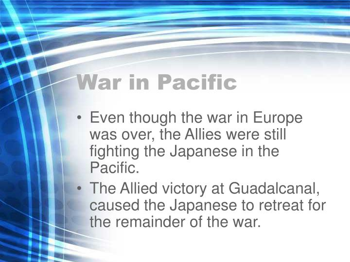 War in Pacific